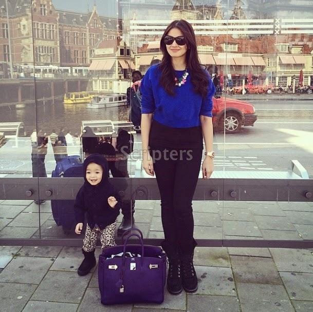 Fazura Membawa Diri Bersama Anak Ke Amsterdam