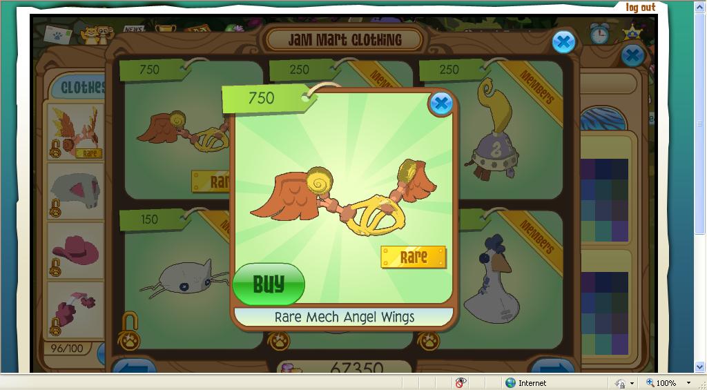Animal Jam Tides Mech Angel Wings