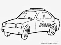 Gambar Mobil Polisi Untuk Diwarnai