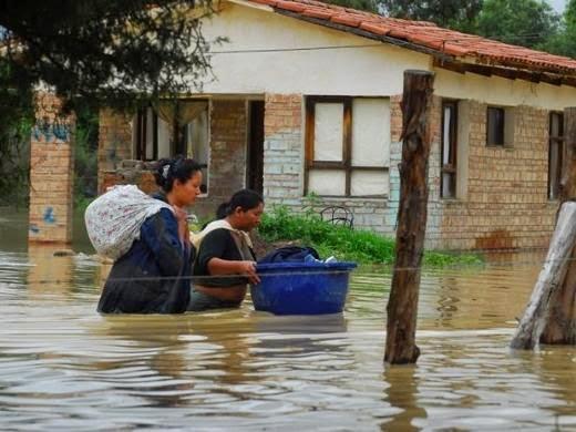 GRAVES INUNDACIONES EN BOLIVIA, 19 DE ENERO 2015