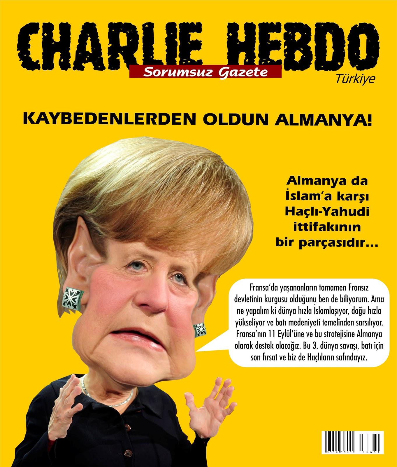 Charlie Hebdo Türkiye'nin Almanya özel sayısı