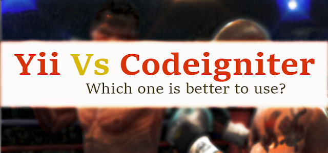 Yii vs Codeigniter banner