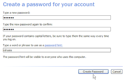 set password administrator accounts