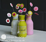DIY Painted Bottles & Flowers
