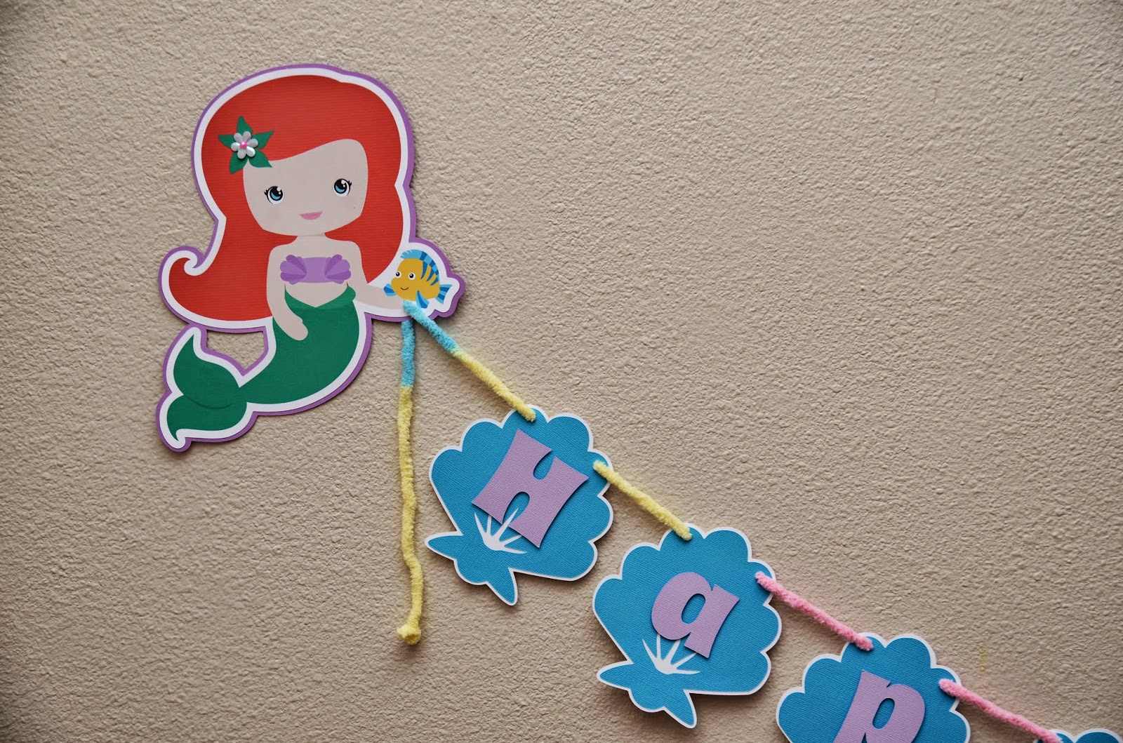 little mermaid banner