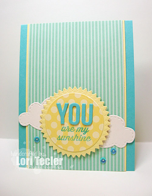 You Are My Sunshine card-designed by Lori Tecler/Inking Aloud-stamps from Avery Elle