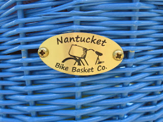 Blue kids bike basket from Nantucket Bike Basket co.