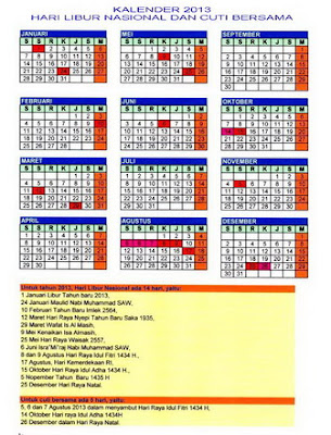 kalender 2013 hari libur