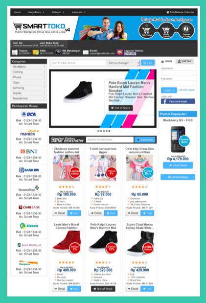 Beli template toko online