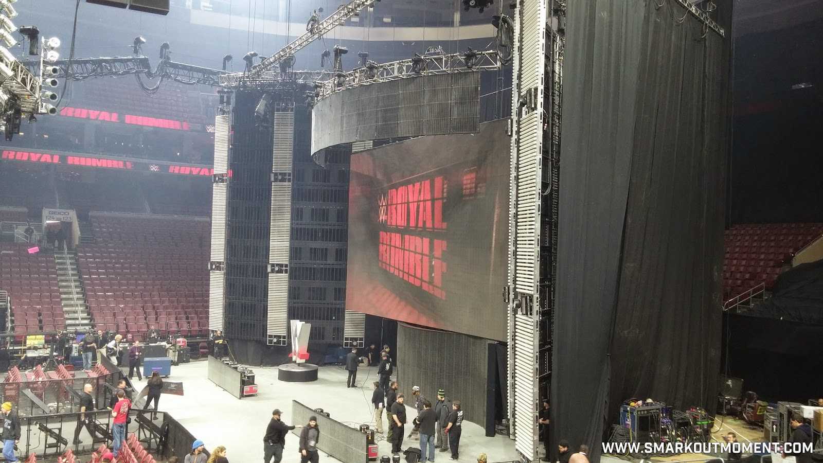 WWE Royal Rumble 2015 set view