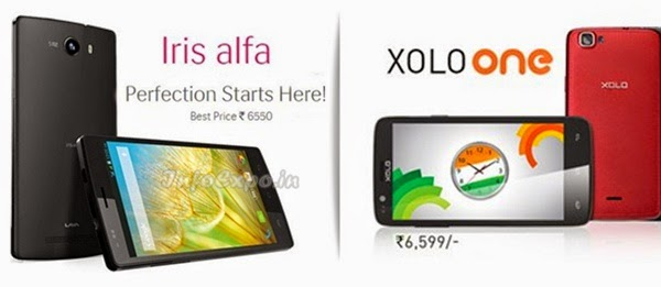 Compare Lava Iris alfa with XOLO One - Specs and Price