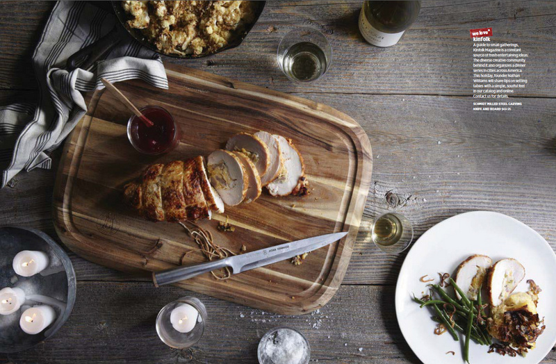 West Elm Holiday Entertaining cutting board