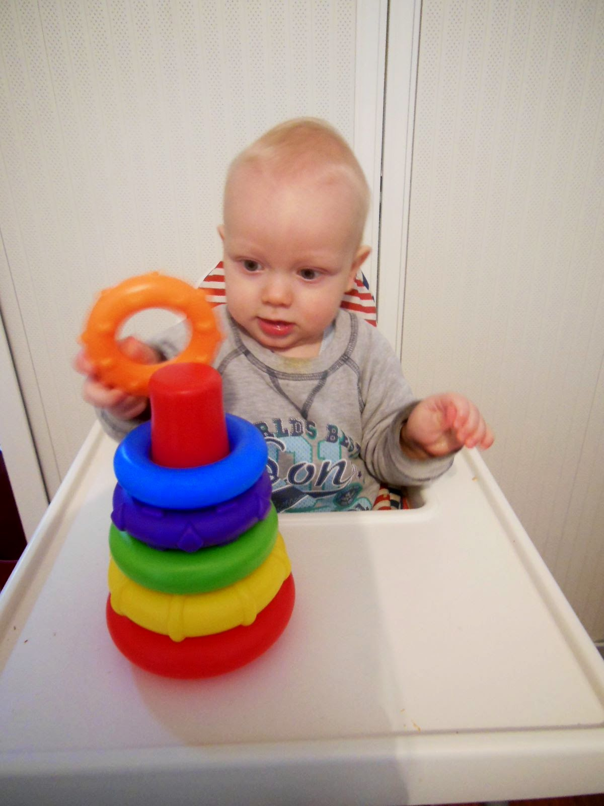 TOY TESTER REVIEW PLAYGRO ROCK N STACK STACKING RINGS