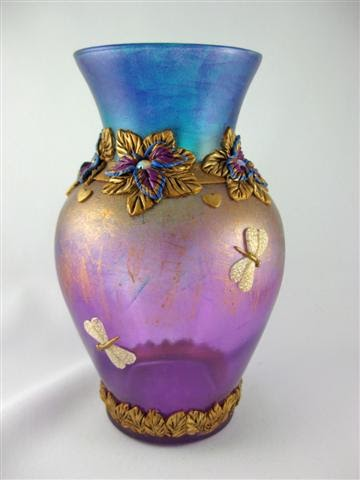 kismet clay designs dragonfly vase