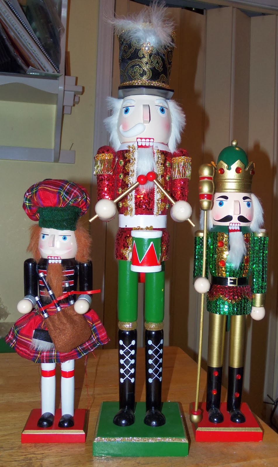 tales from the love shaque  i was tickled to get my second bagpiper at joann fabrics the same evening the tallest one is missing half his mustache but i can repair that