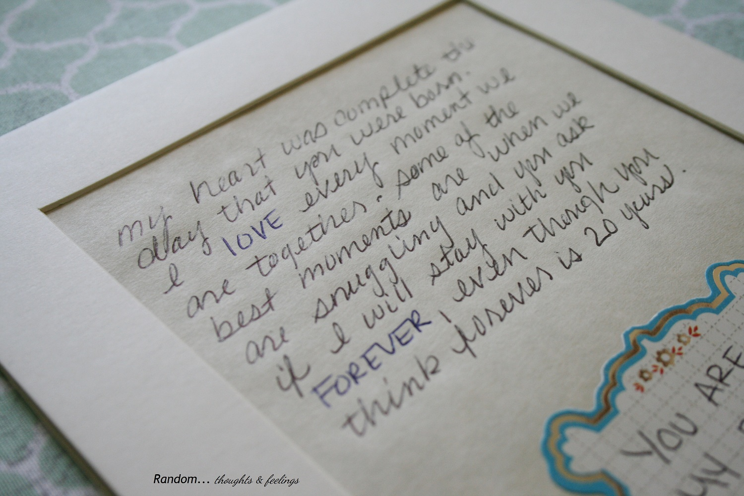 love letter to my husband
