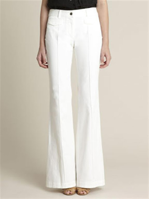 White bell Bottom Jeans For Women