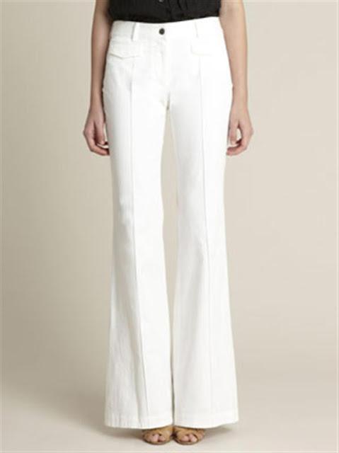 White bell Bottom Jeans For Women