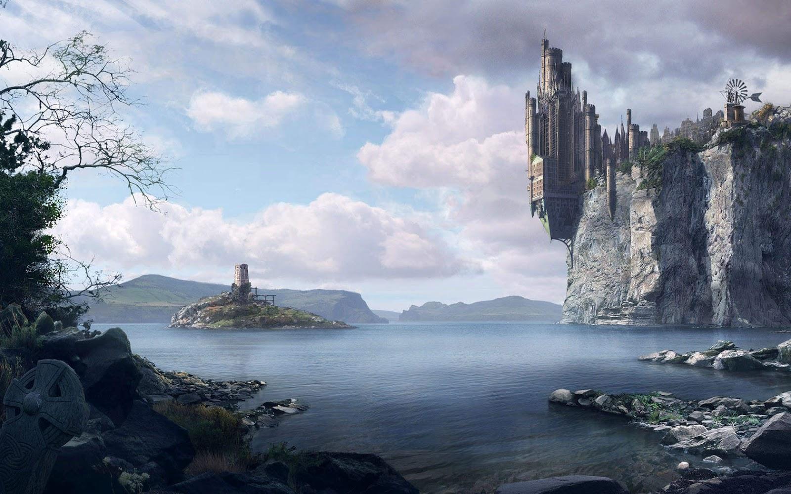 Colorful Fantasy Castles Wallpaper