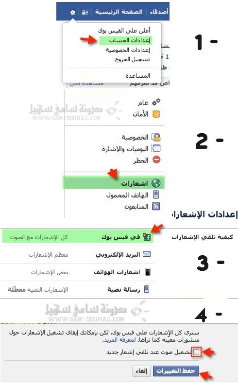 حل طريقة غلق وتشغيل صوت دردشة الفيسبوك Facebook (بالصور)
