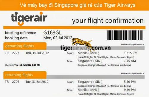 Giá vé máy bay Tiger Airways bao nhiêu tiền
