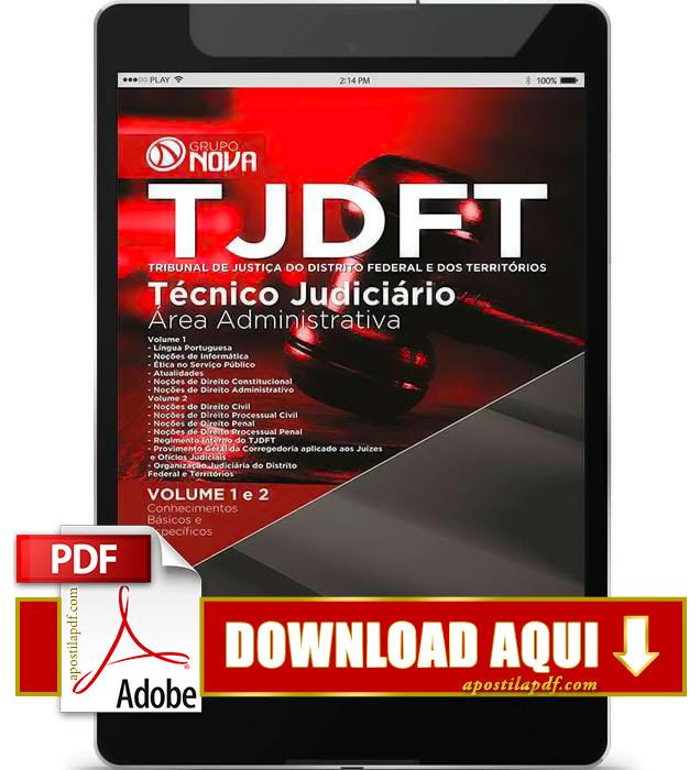 Apostila TJDFT 2015 PDF Download Técnico Judiciário