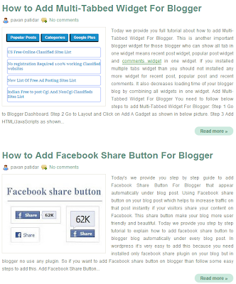 Add Post Thumbnails for Blogger