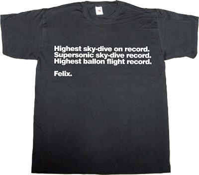 space Felix Baumgartner record breaker t-shirt ephemeral-t-shirts