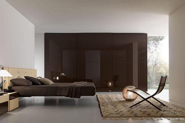 Dormitorios en marr n dormitorios con estilo - Cortinas marron chocolate ...