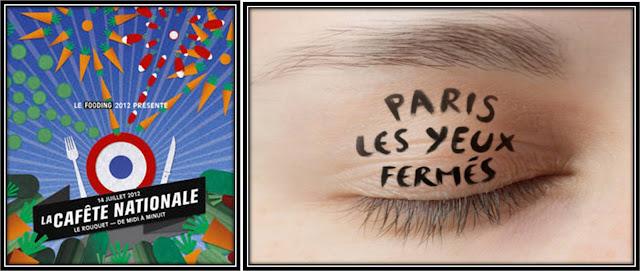 cafète nationale Le Fooding 2012, balade Paris les yeux fermés Projet in Situ
