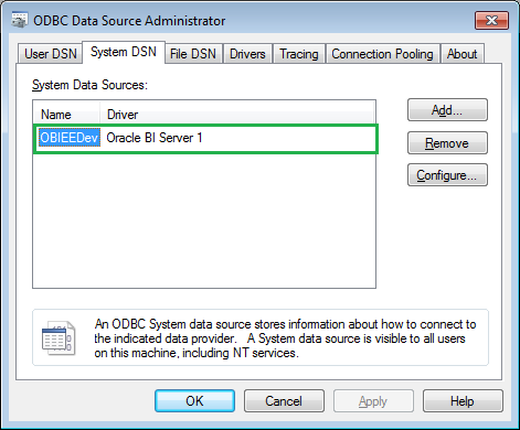 now open administration tool from our obiee client installed in our local machine and click open online now we could see the dsn which we have created in obiee administration