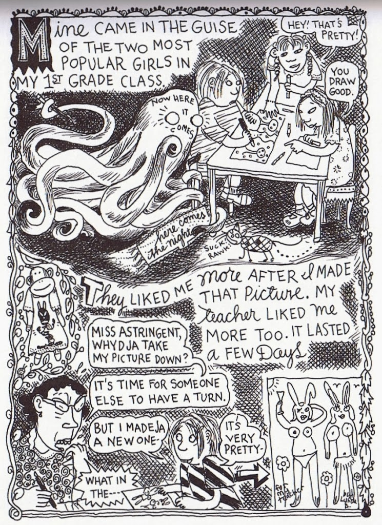 one hundred demons by lynda barry essay An analysis of lynda barry's one hundred demons after the death of a loved one, it's common to hear the affected say they can't remember the physical features of their loved one once they have passed instead, they have an ambiguous image in their mind of a person who no longer exists lynda barry illustrates this feeling of ambiguity in her.