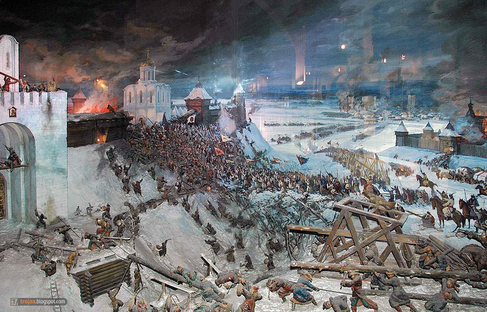 Картинки по запросу диорама Решающий штурм Владимира войском хана Батыя