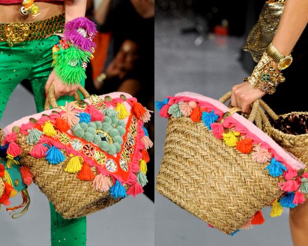 La caraba en bicicleta verano en el bolso - Como adornar cestas de mimbre ...