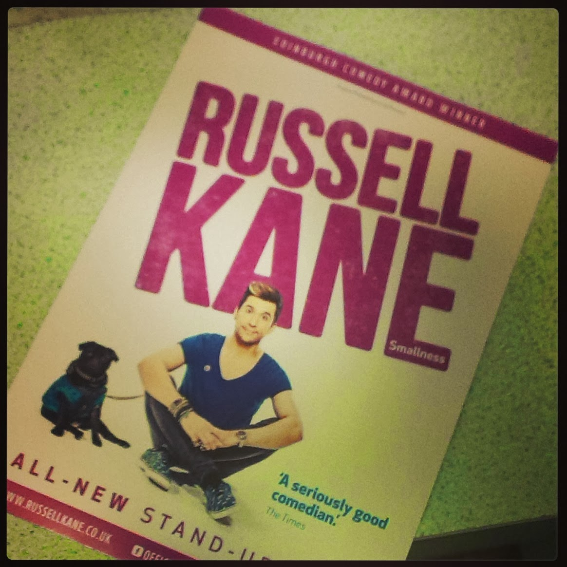 Russell Kane Smallness Tour Leaflet