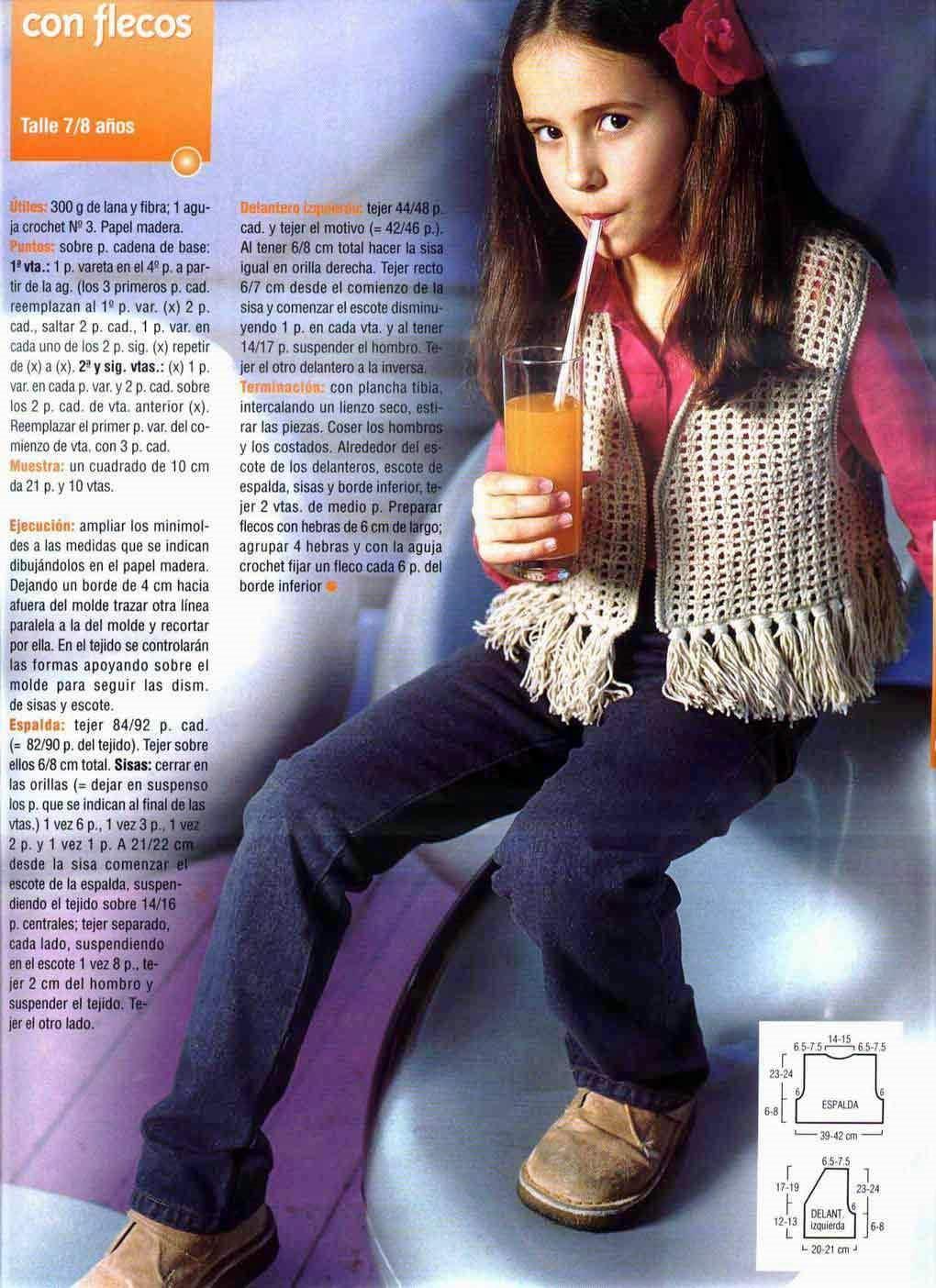 Chalecos En Crochet Para Nina's