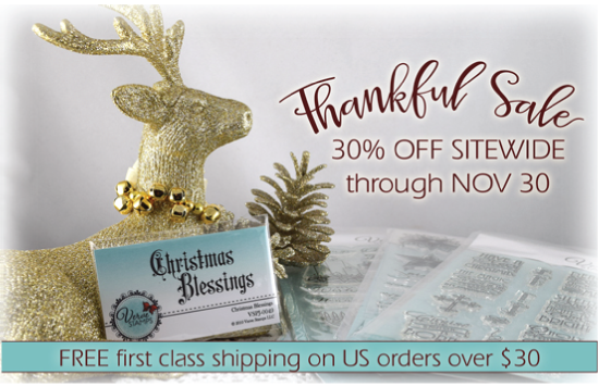 Verve Stamps Thankful Sale 30% off through Nov. 30