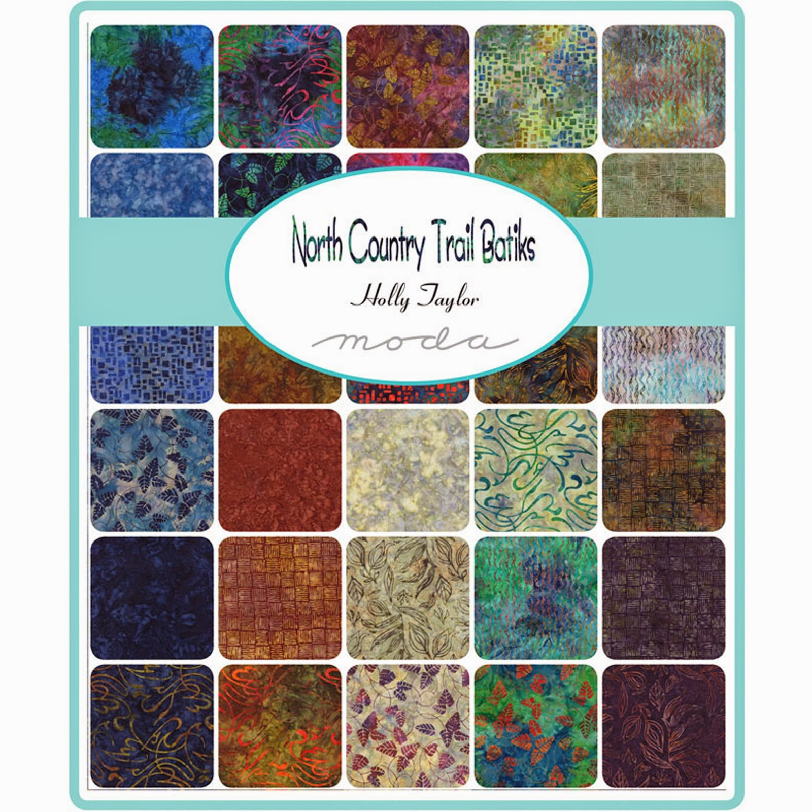 Moda NORTH COUNTRY TRAIL BATIKS Fabric by Holly Taylor for Moda Fabrics