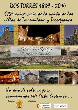 Programación del 175º aniversario de la unión de las villas de Torremilano y Torrefranca