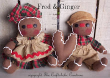 "Fred & Ginger - 4 1/2"" sitting dolls & heart"