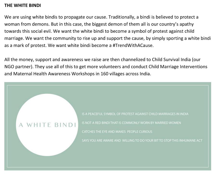 The White Bindi