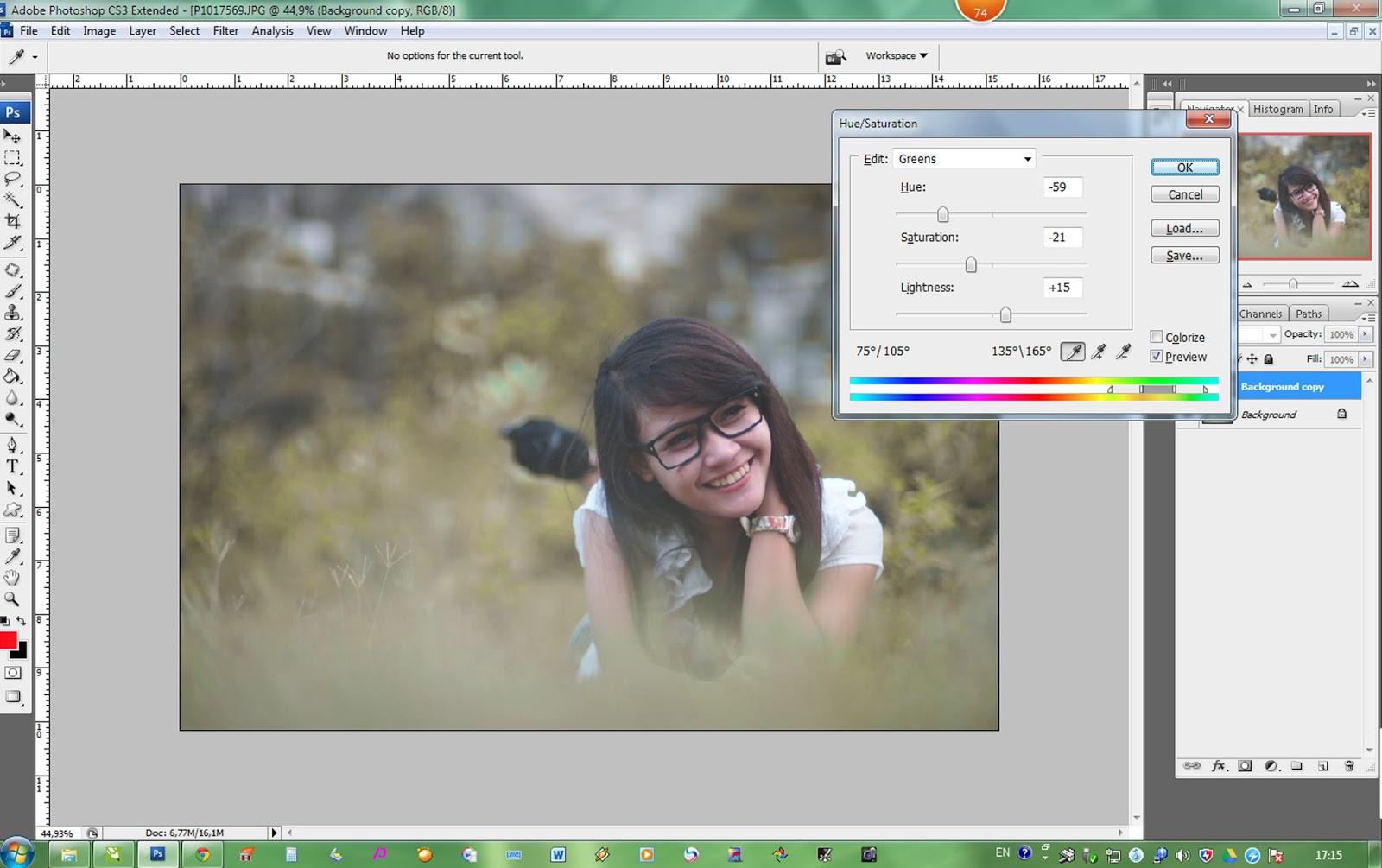 Cara menerangkan foto dengan photoshop cs2 64