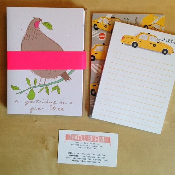 GotPrint taxi notepads by Lindsey Balbierz
