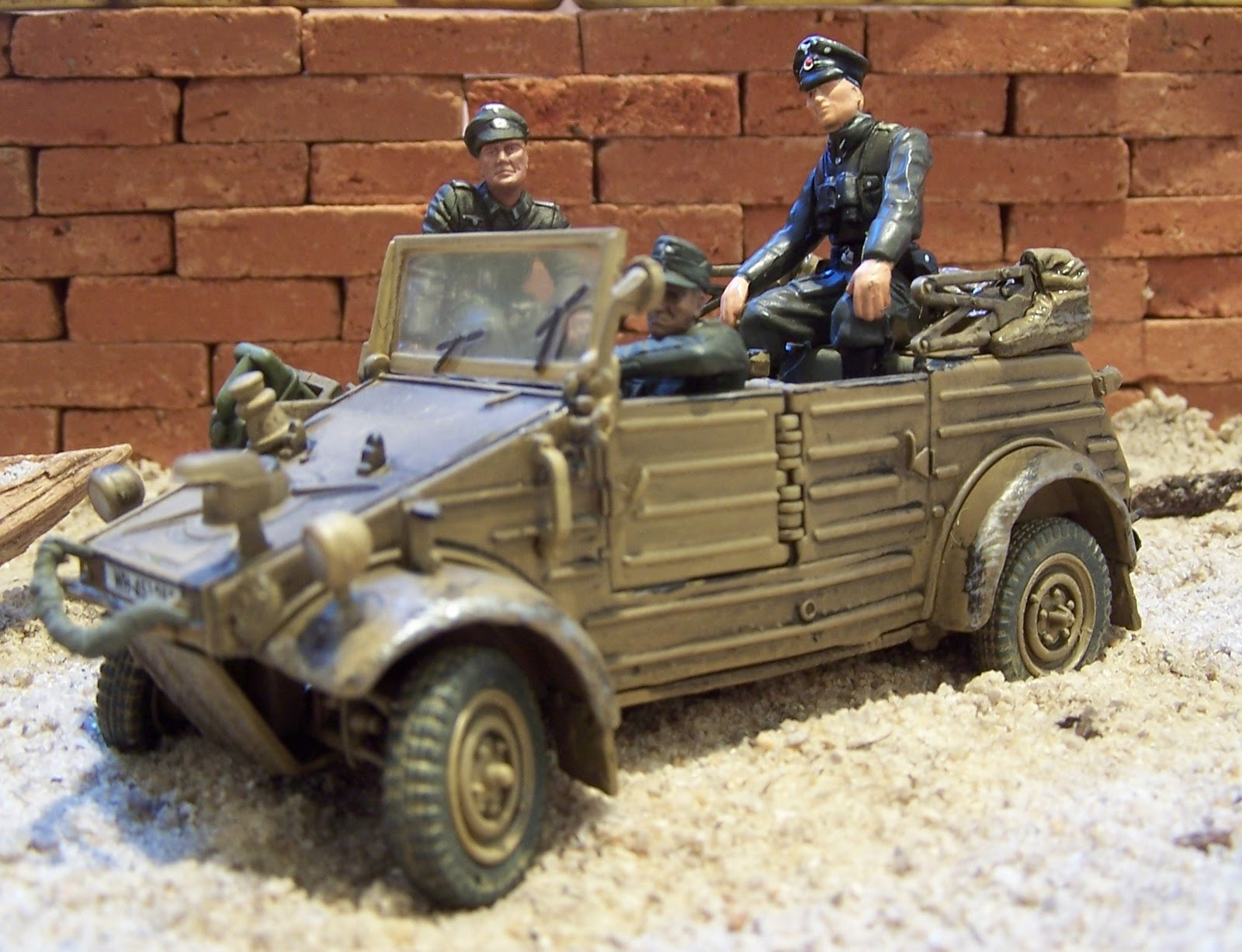 WWII Plastic Toy Sol rs German Reconnaissance Vehicles