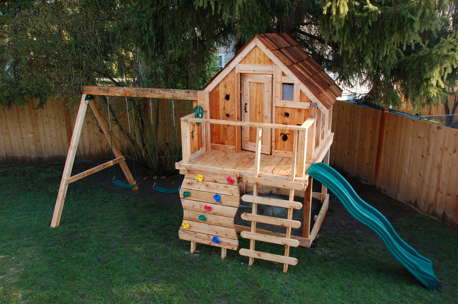Diy playhouse with swing set plans 2015 best auto reviews for Free playhouse plans