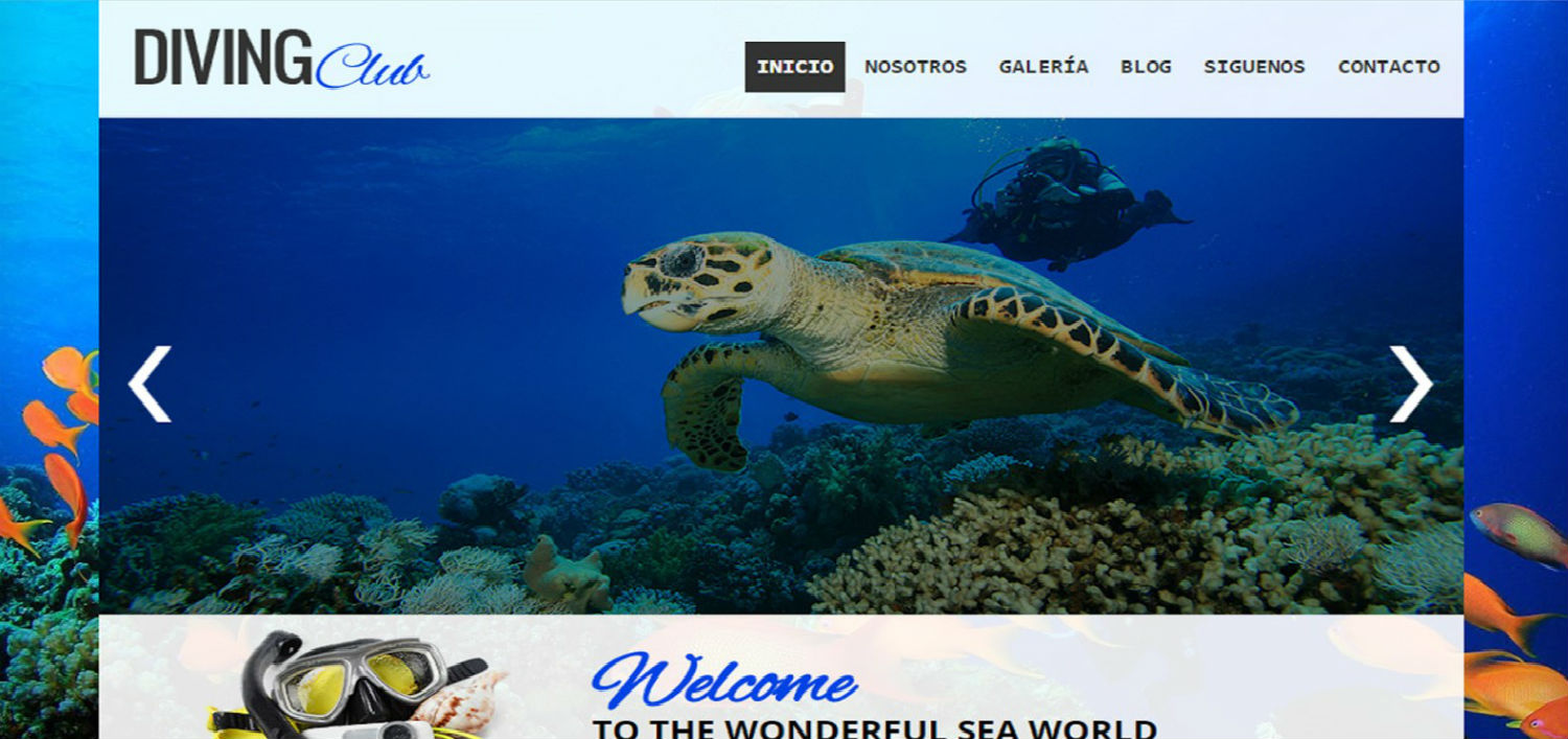 Diving Club Template Blogger