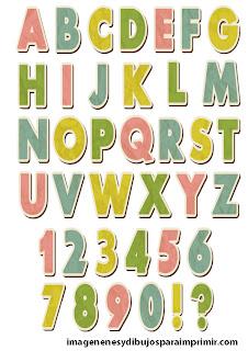 Alfabeto retro para imprimir