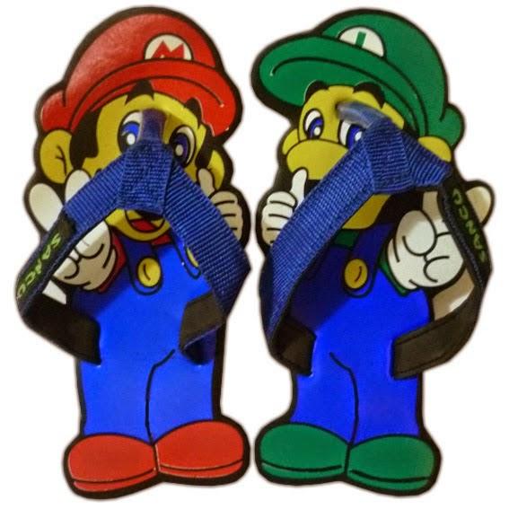 Motif Sandal Sancu mario Luigi