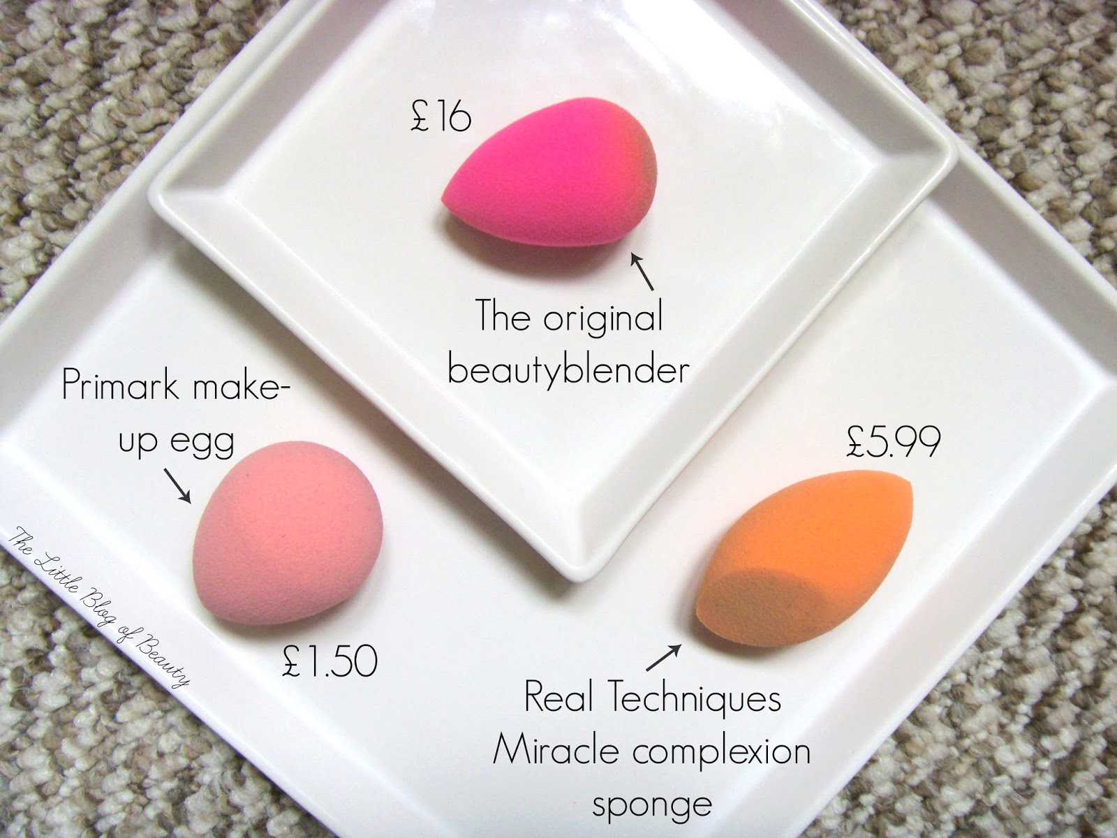 Makeup sponges - The eggsperiment