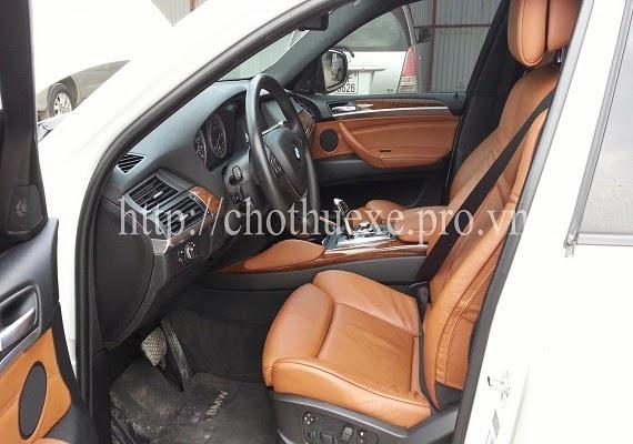 Cho thuê xe BMW X6 màu trắng giá rẻ tại Hà Nội